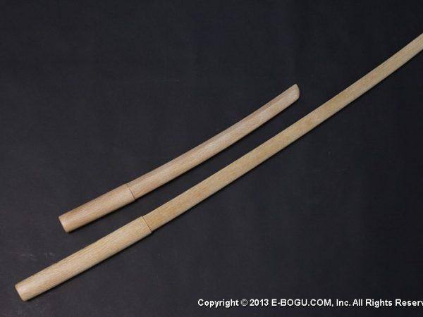 Bokken set (longo e curto) – branco – Master quality